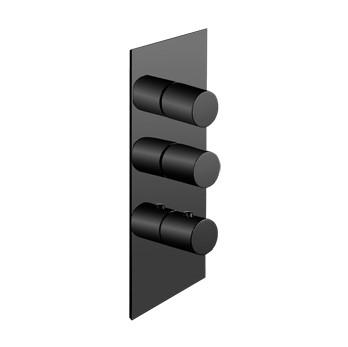 Plieger Napoli afbouwdeel voor inbouw douchekraan 2-wegs mat zwart