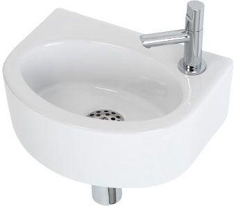 Plieger Orlando fonteinset compleet 30x22x11cm wit