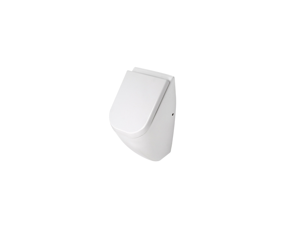 Plieger Pure urinoir met deksel wit met achterinlaat