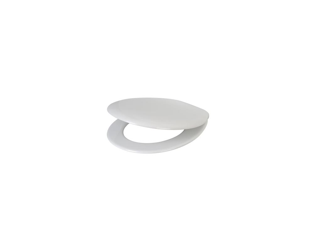 Plieger Smart toiletzitting met softclose en deksel wit