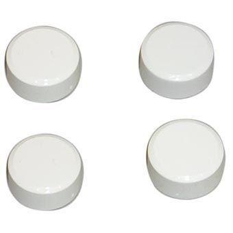 Plieger Plieger spiegelklemmen decoratief 4 stuks chroom