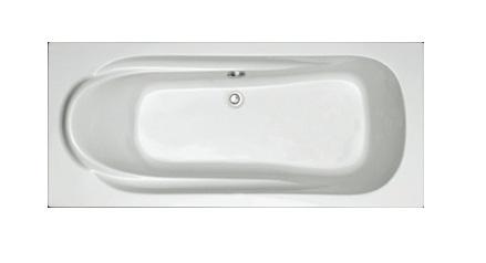 Plieger Spring kunststof bad acryl rechthoekig 180x80cm m. poten wit