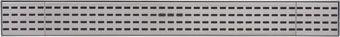 Plieger Start kunststof douchegoot m. 3 RVS platen 68.5x8.6x3cm zij-uitloop 40/50mm