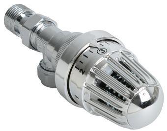Plieger thermostatische radiatorkraan verkeerd haaks 15mm klemx1/2bu chroom