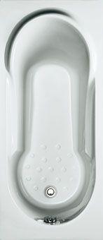 Plieger Vigo solobad acryl 160x70x37cm met poten wit