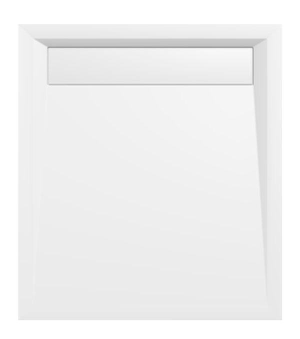 Polysan Varesa rechthoekige douchebak 90x80cm wit