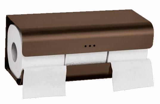 Proox One driedubbele toiletrol houder brons