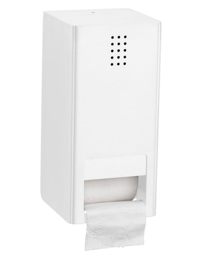 Proox One dubbele toiletrolhouder met klep verticaal wit