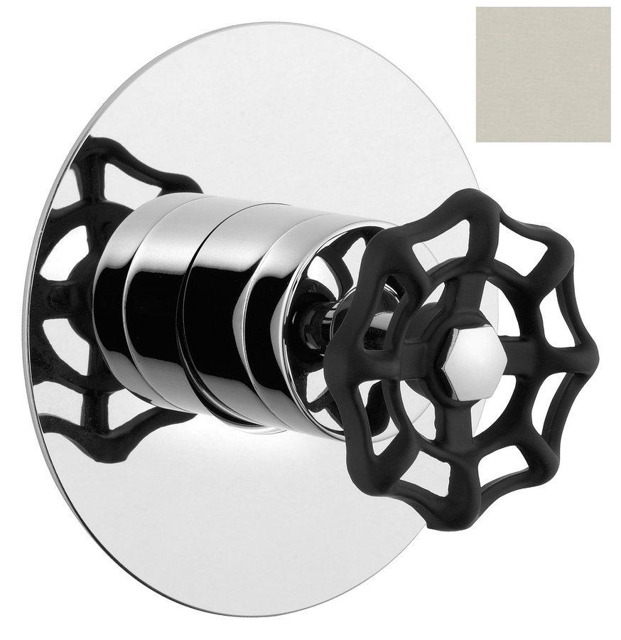 Reitano Industry inbouw douche mengkraan 1-wegs nikkel/zwart