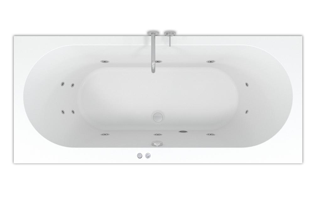 Productafbeelding van Riho Carolina Easypool ligbad 180x80cm met whirlpool systeem 6+4+2 hydro jets