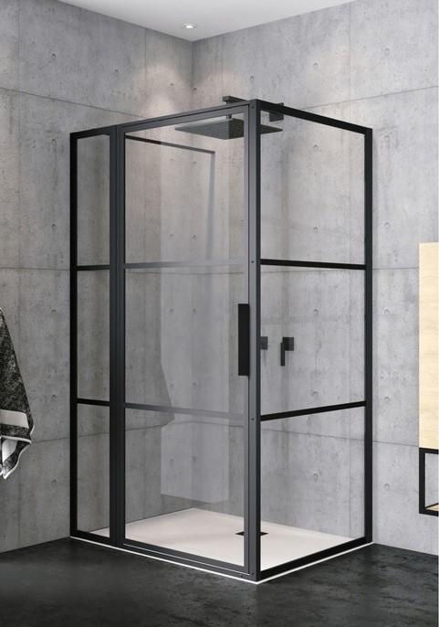 Productafbeelding van Riho Grid GB203 douchecabine 130x100cm matzwart