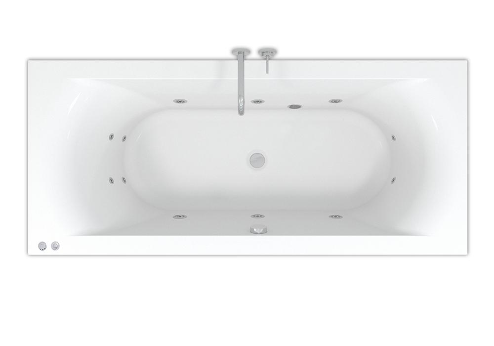 Productafbeelding van Riho Lima Easypool ligbad 190x90cm met whirlpool systeem 6+4+2 hydro jets