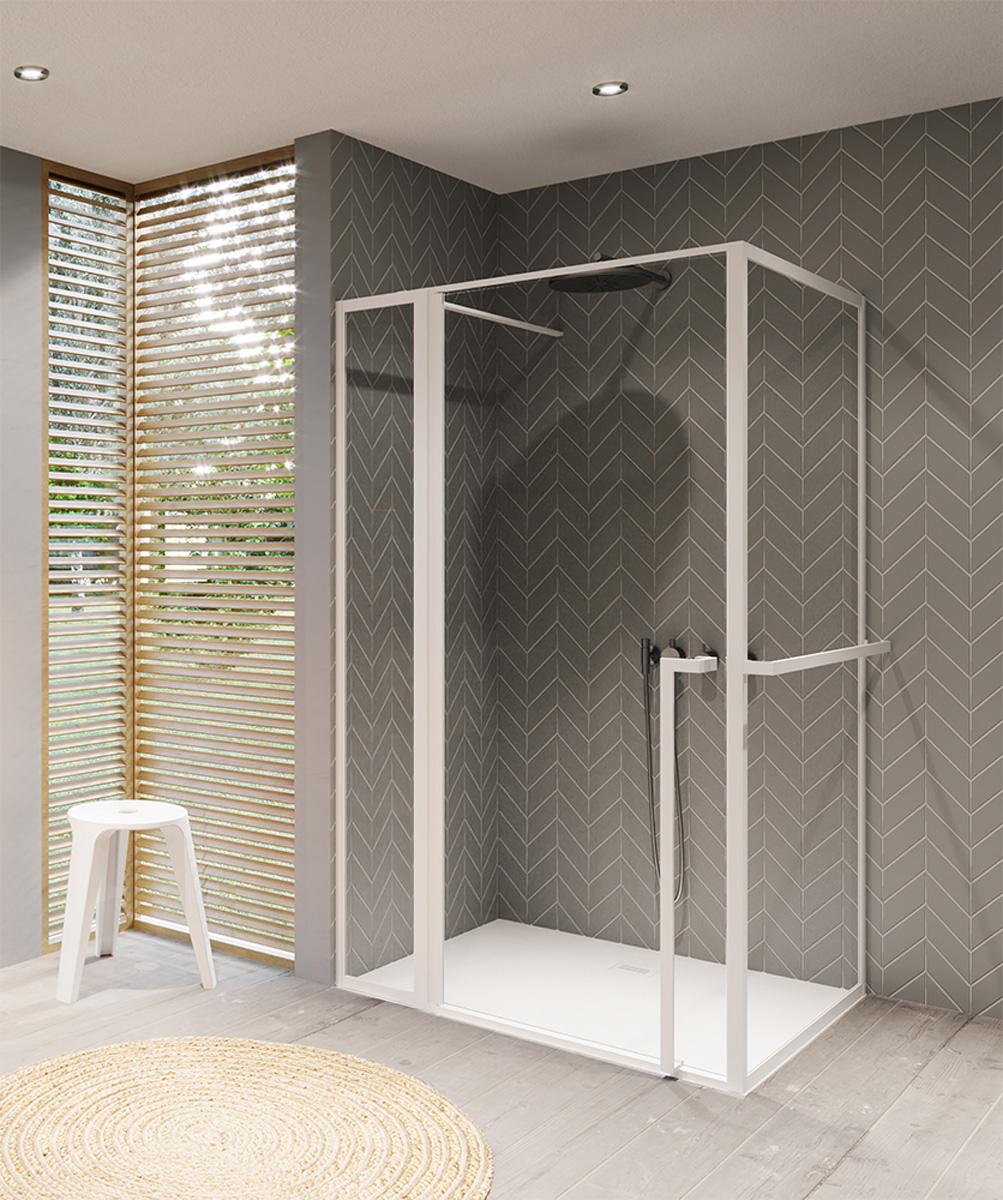 Productafbeelding van Riho Lucid GD203 douchecabine 130x90cm mat wit
