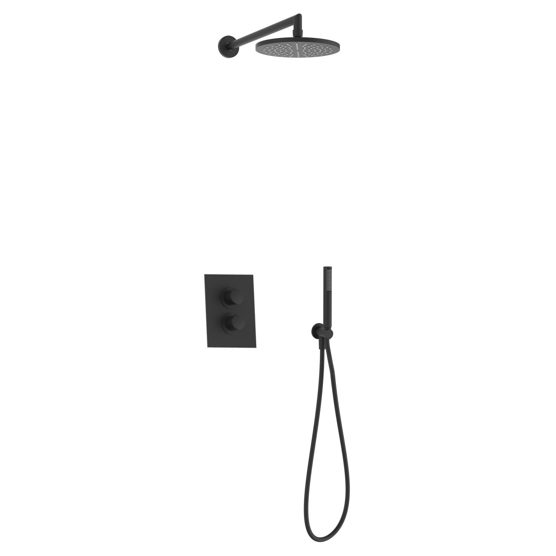 Salenzi Giro inbouw regendouche set type 5 mat zwart