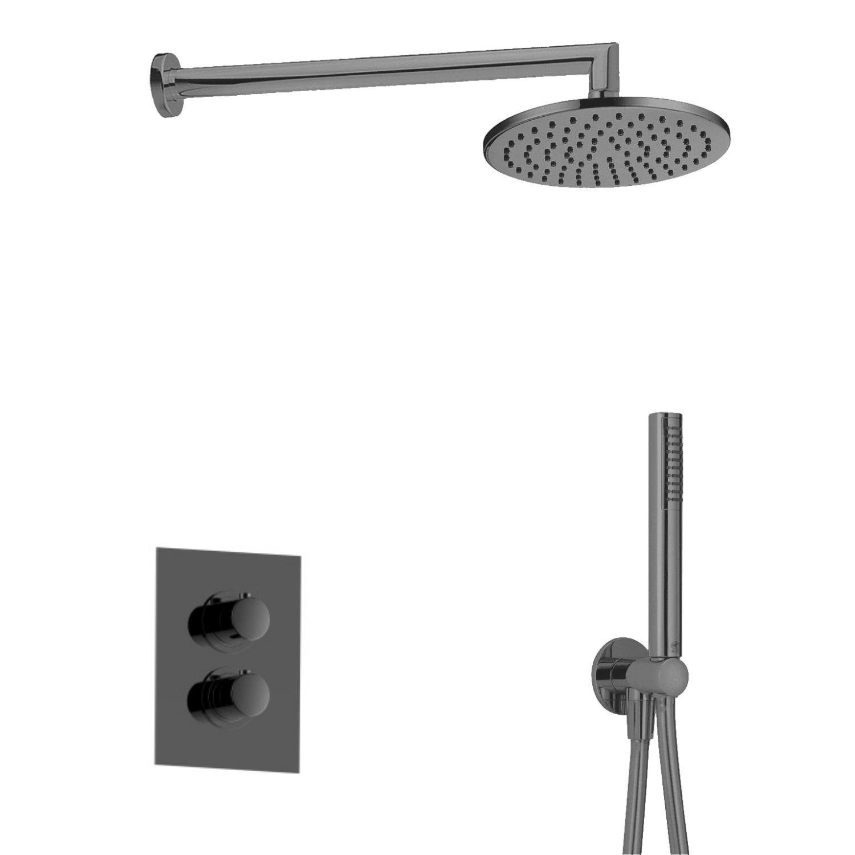 Salenzi Giro inbouw regendouche set type 6 zwart chroom