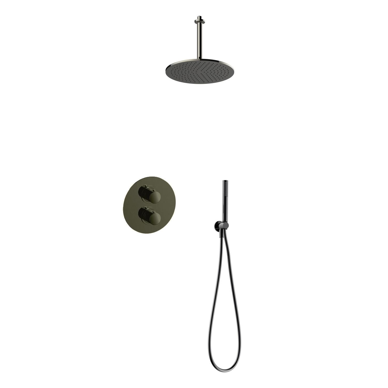 Salenzi Giro inbouw regendouche set type 8 zwart chroom