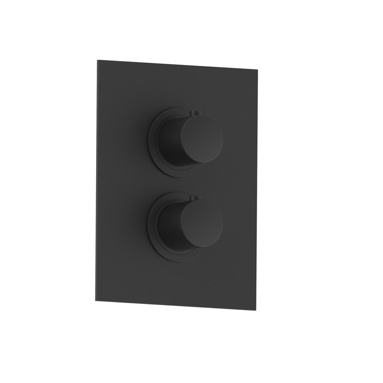 Salenzi Giro inbouwthermostaat met afbouwdeel mat zwart