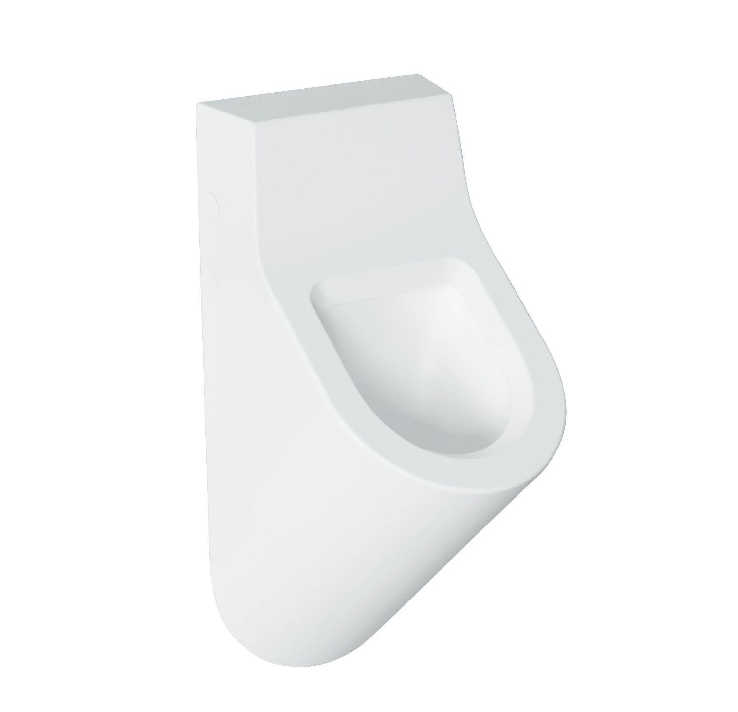 Productafbeelding van Salenzi Hung urinoir achterinlaat glans wit met ophangset en sifon