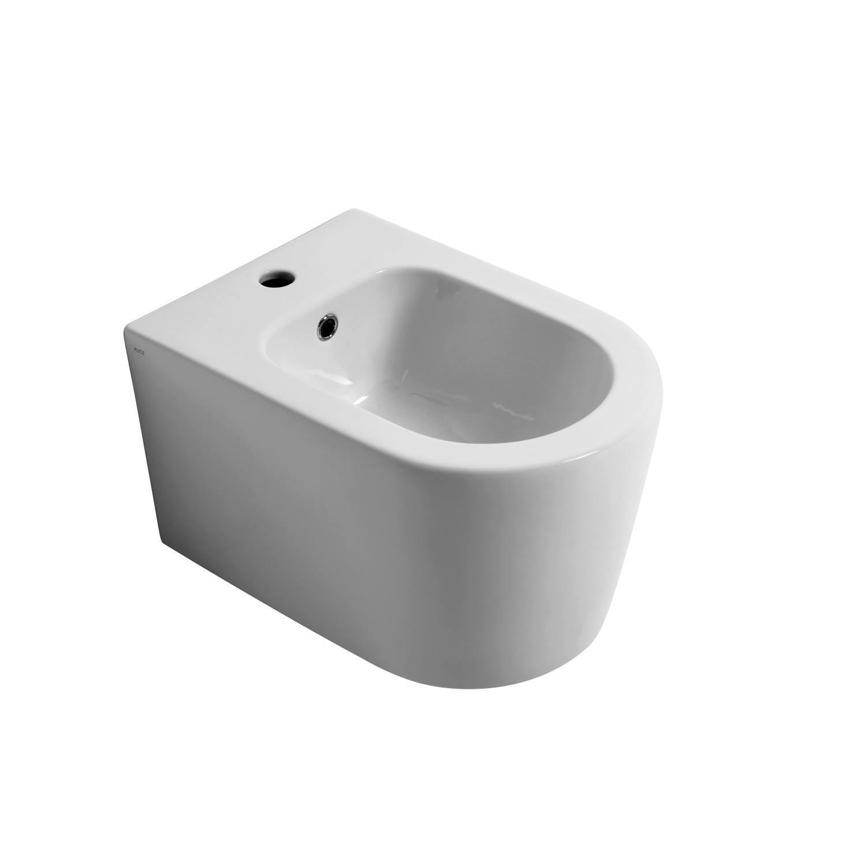 Salenzi Form Square bidet met kraangat mat wit