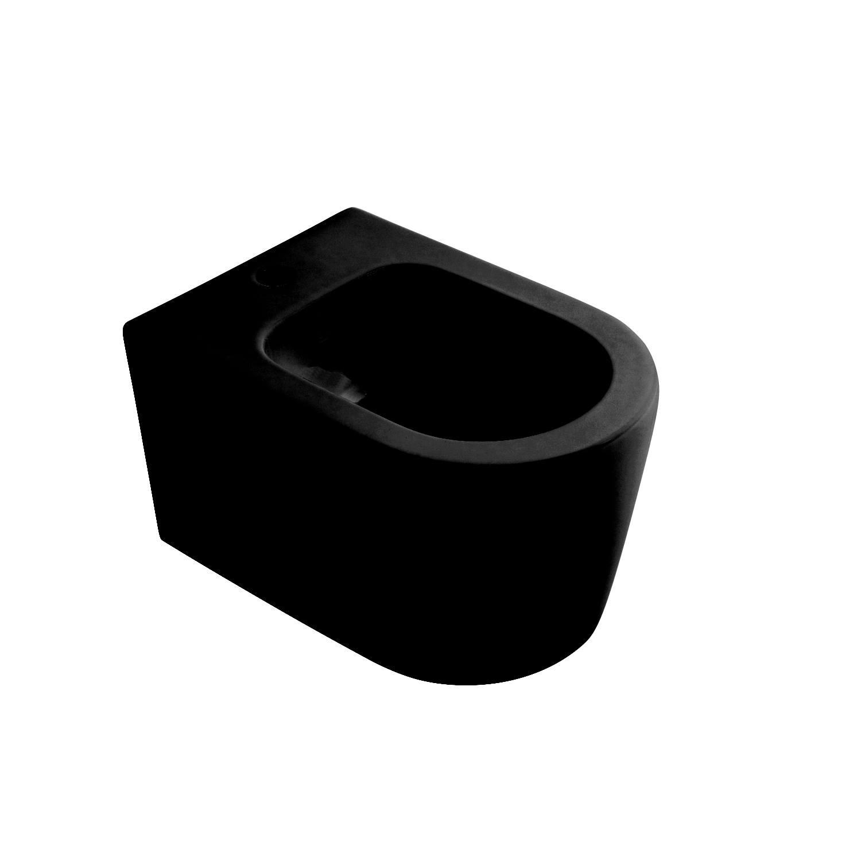 Salenzi Form Square bidet met kraangat mat zwart