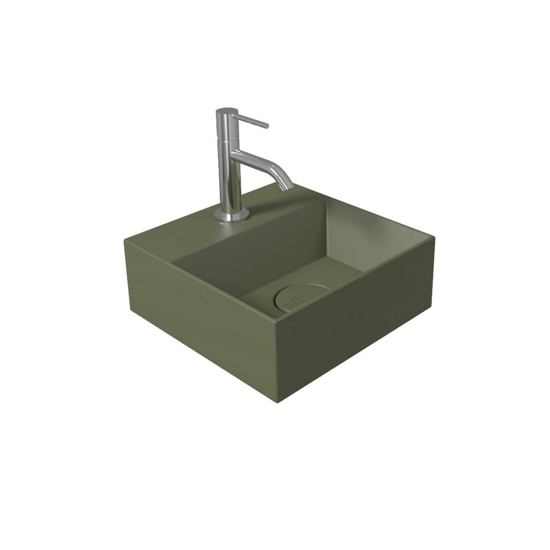 Salenzi Spy Fontein met clickwaste 30x30 cm mat groen