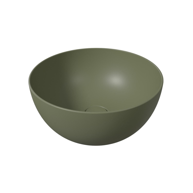 Ronde Wastafel Opbouw Alice Unica Round 40x20 cm Mat Wit (inclusief bijpassende clickwaste)