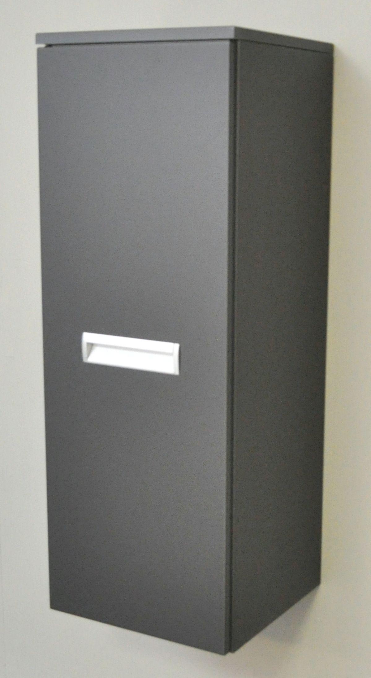 Sanicare Q2 half hoge kolomkast 90x33,5x32 cm. antraciet