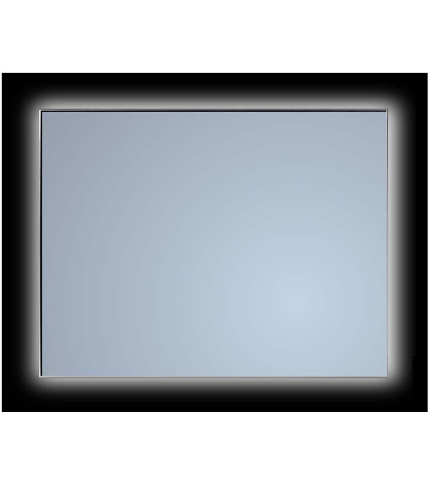 Sanicare Spiegel Ambiance 100 cm. met Cool White leds (dimbaar met handsensor schakelaar) omlijsting