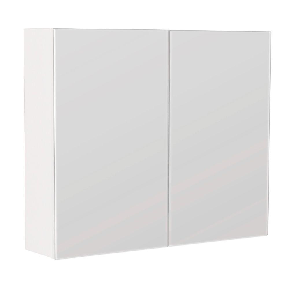 Saniclear Basic Spiegelkast 75 hoogglans wit