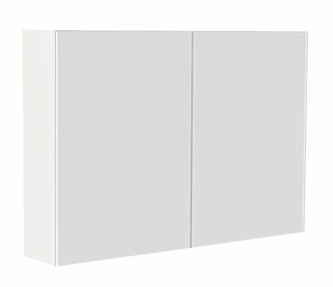 Saniclear Basic Spiegelkast 90 hoogglans wit