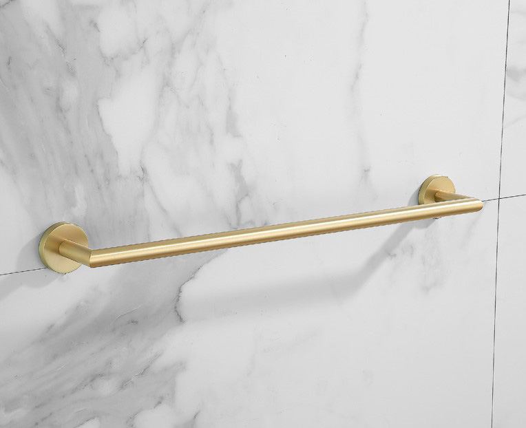 Saniclear Brass handdoekhouder 60cm geborsteld messing mat goud