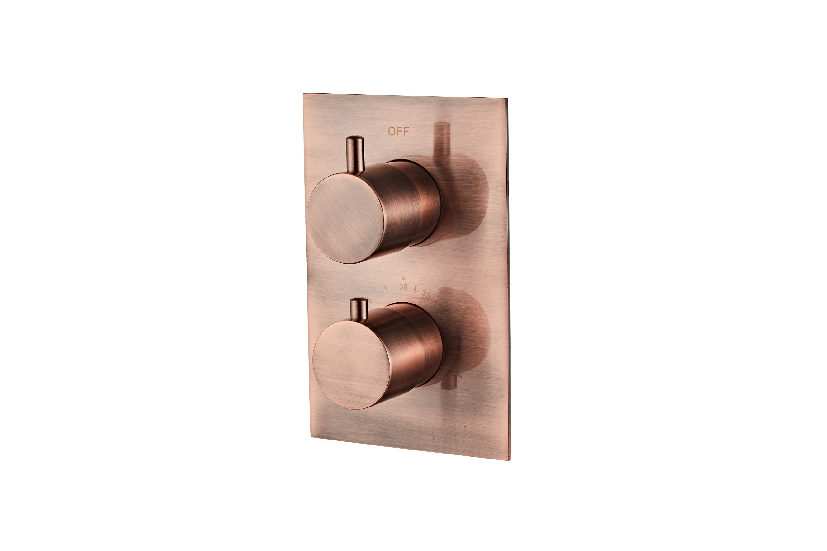 Saniclear Copper complete inbouw thermostaat geborsteld koper