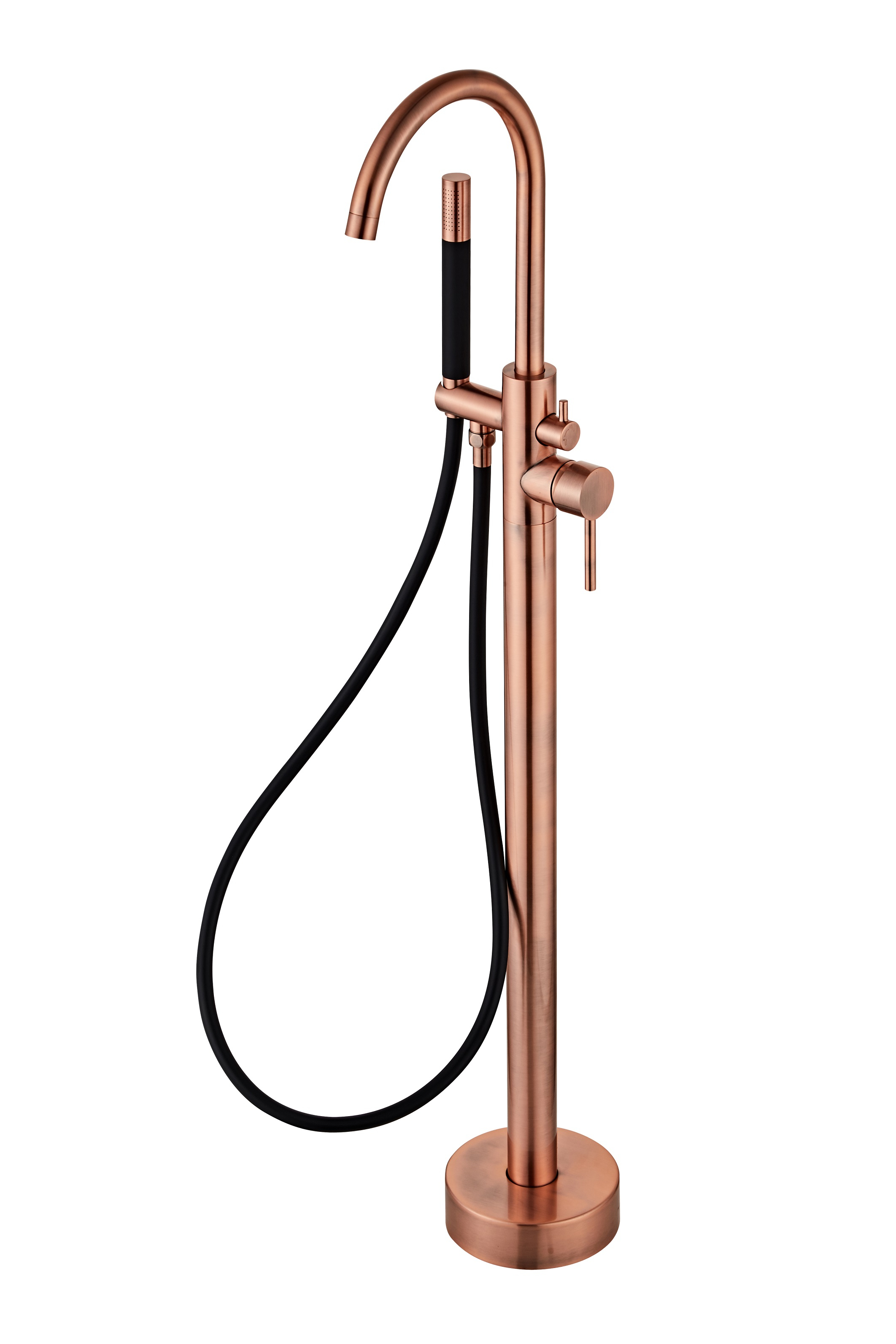Saniclear Copper Pro vrijstaande badkraan koper zwart