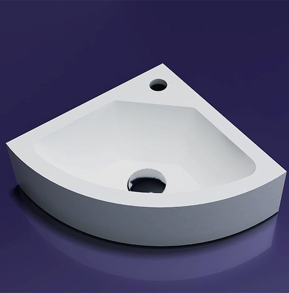 Lambini Designs Corner solid surface fontein 30x30x10cm