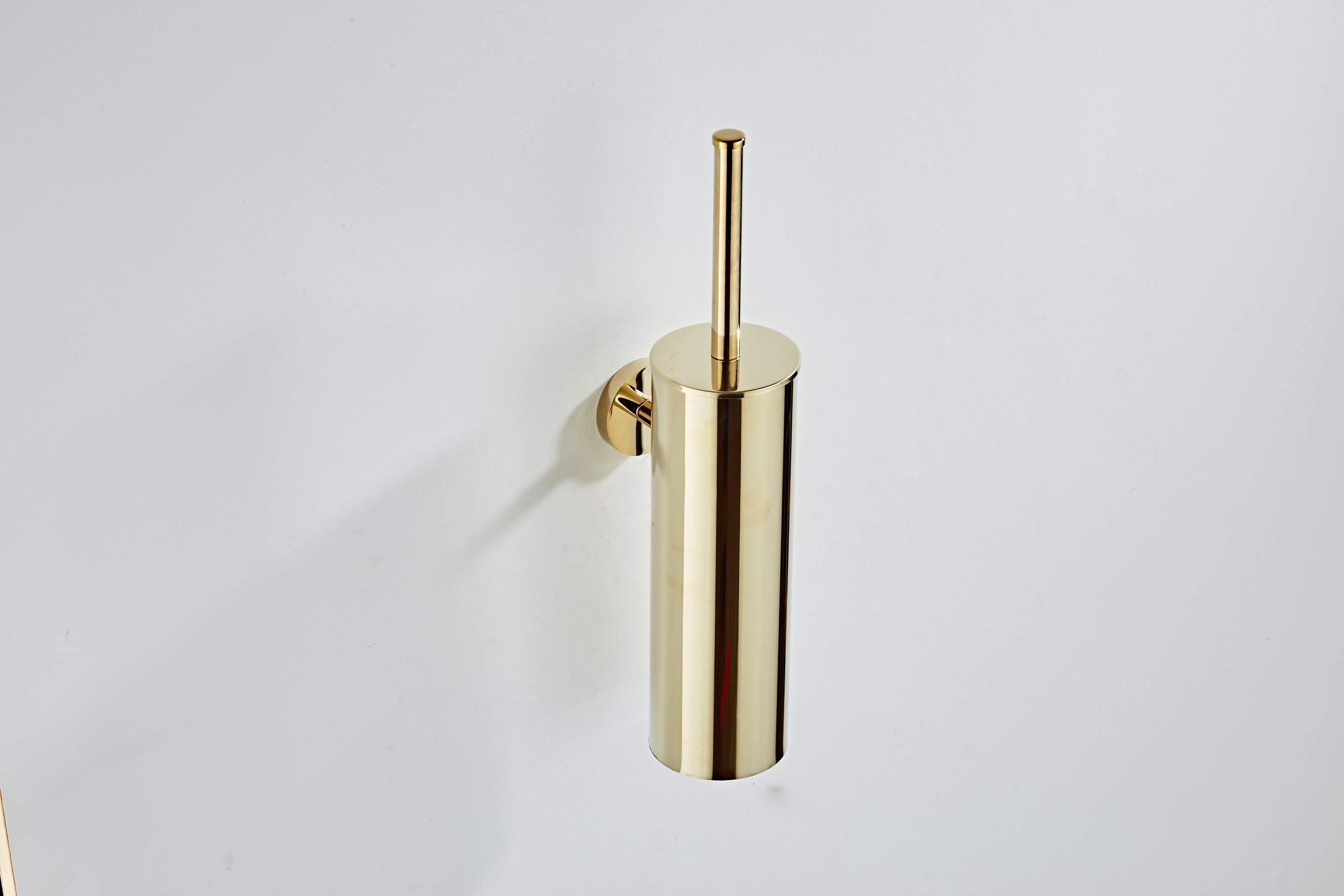 Saniclear Dorado toiletborstel met wandhouder goud