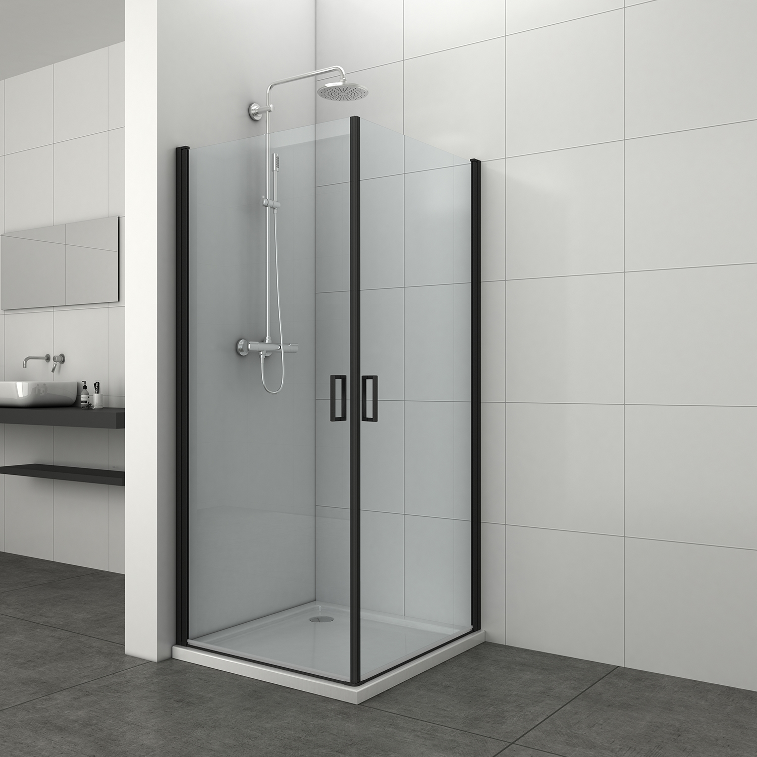 Complete Douchecabines Punt Nl.Badkamer Accessoires Saniclear Modern Douchecabine 80x90 Met 90cm