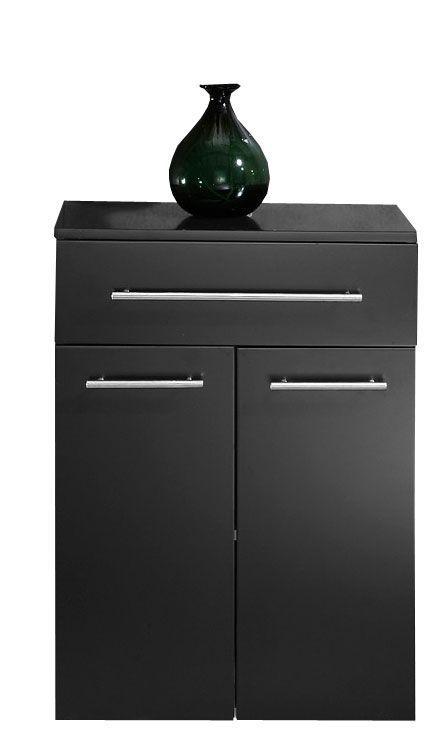 Saniclear Extra Kolomkast zijdeglans zwart 53x72