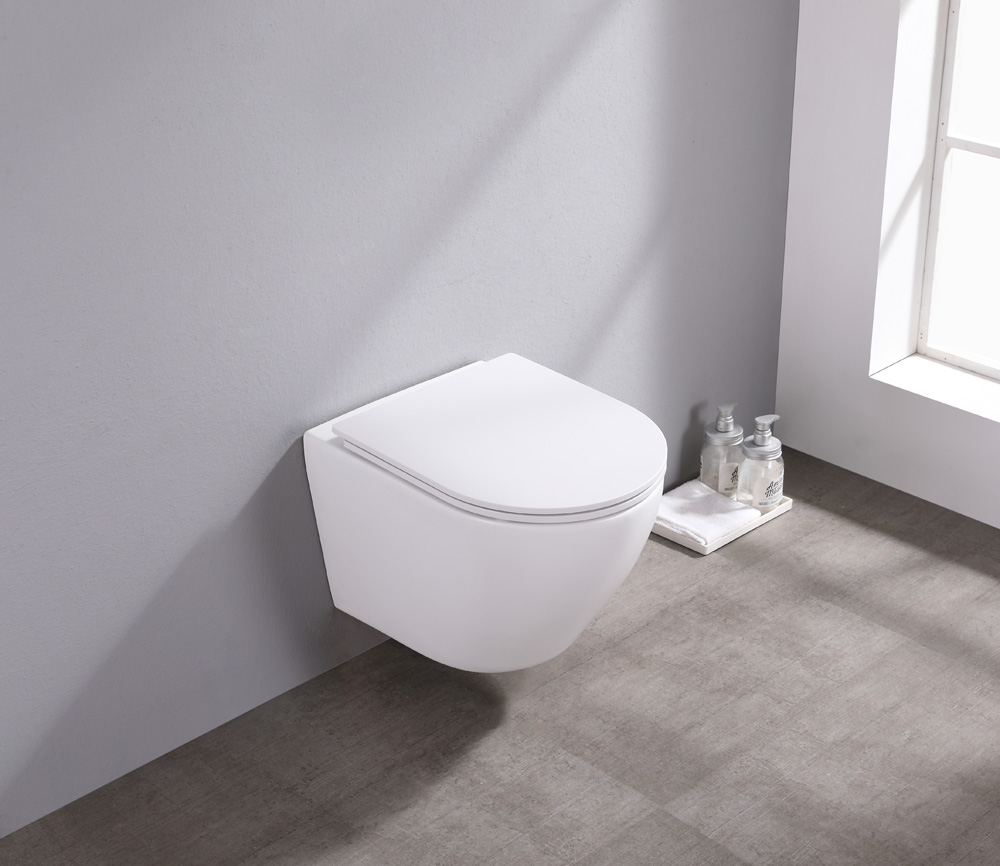 Saniclear Itsie mat witte toiletpot randloos met softclose zitting