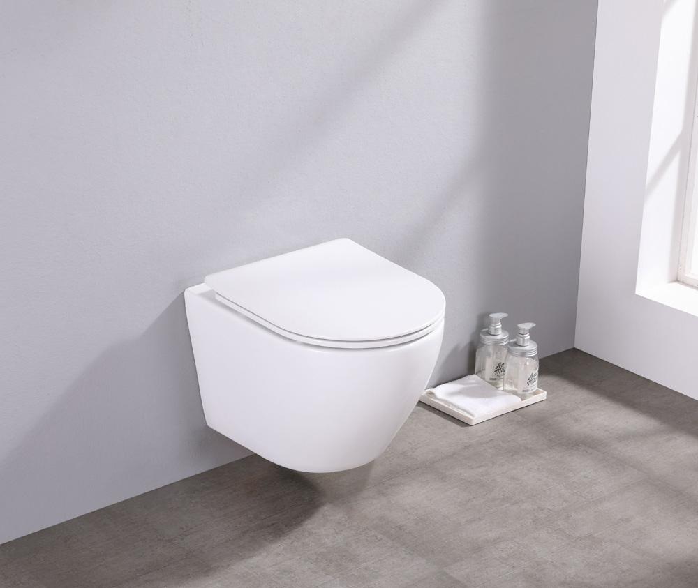 Saniclear Itsie witte toiletpot randloos met softclose zitting