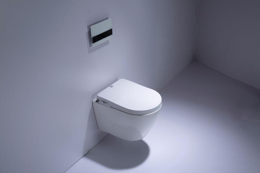 Productafbeelding van Saniclear Jama Spray randloos toilet met douchewc bidet zitting
