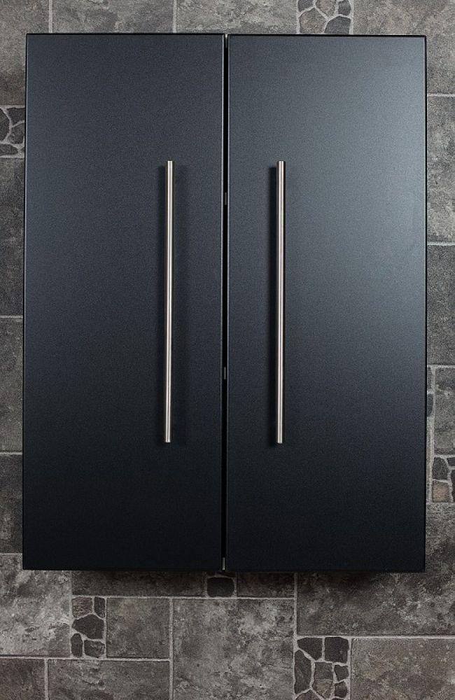 Saniclear Large Kolomkast zijdeglans zwart 53x70