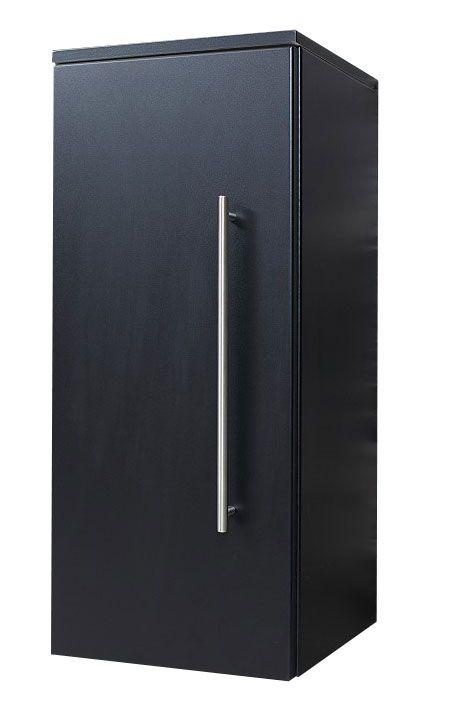 Saniclear Medium Kolomkast zijdeglans zwart 30x70