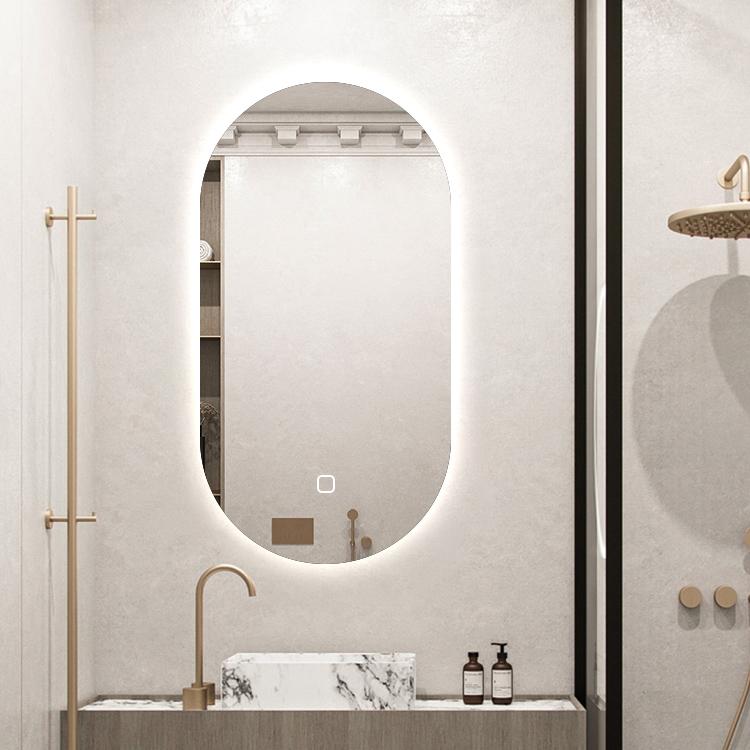 Saniclear Parma ovale spiegel met LED-verlichting en spiegelverwarming 100x50cm