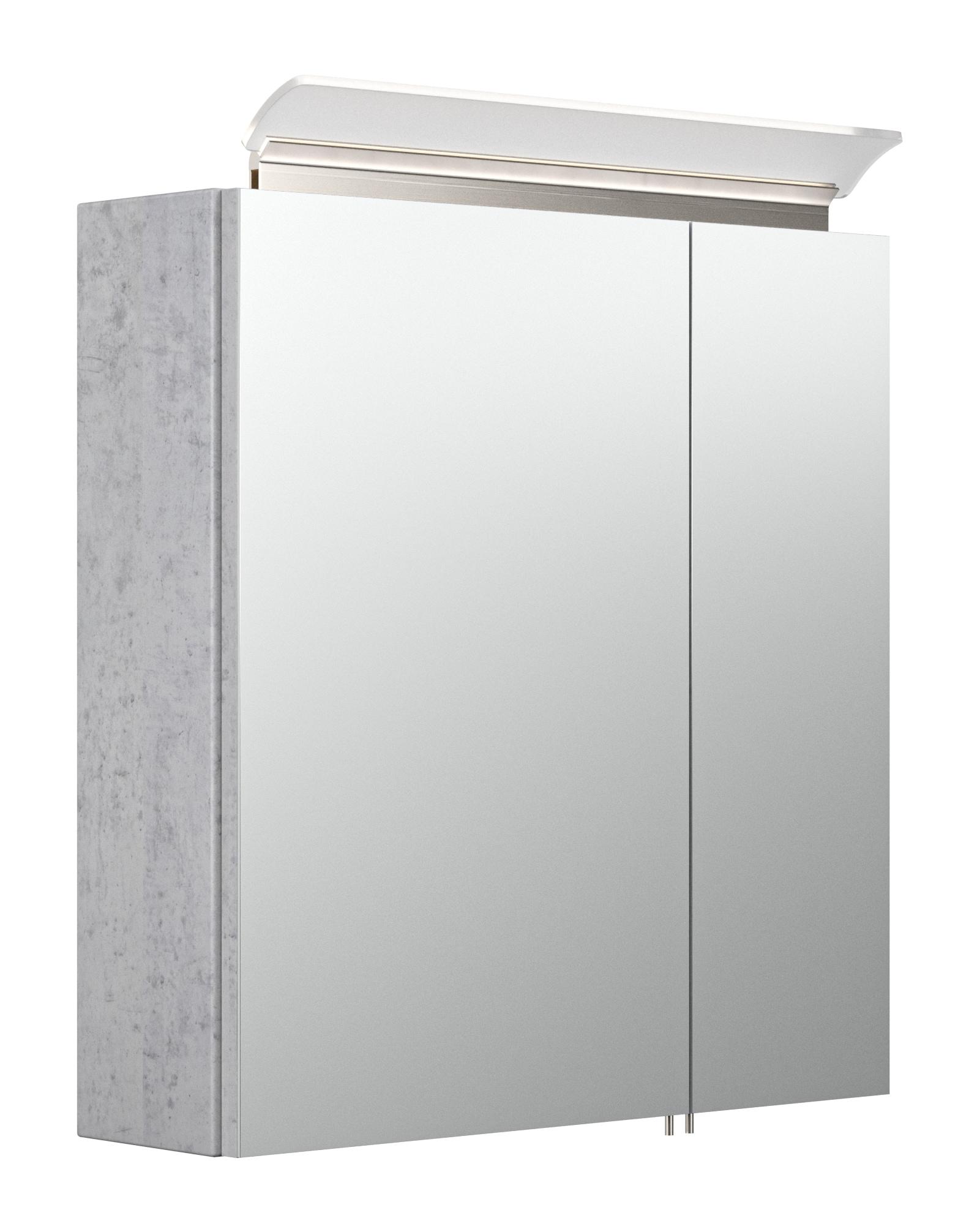 Saniclear Rocky 60cm spiegelkast met design LED verlichting beton grijs