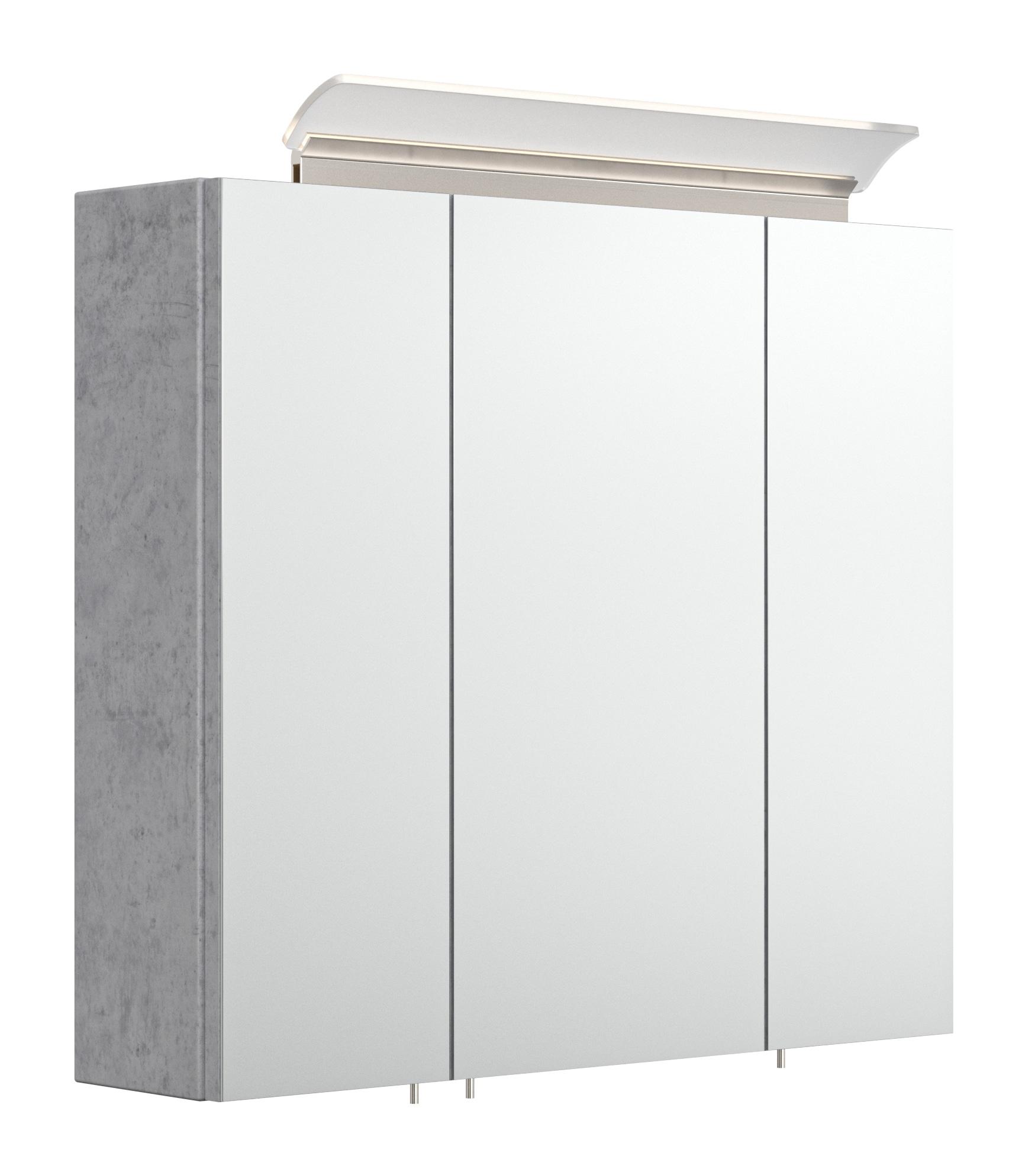 Saniclear Rocky 70cm spiegelkast met design LED verlichting beton grijs