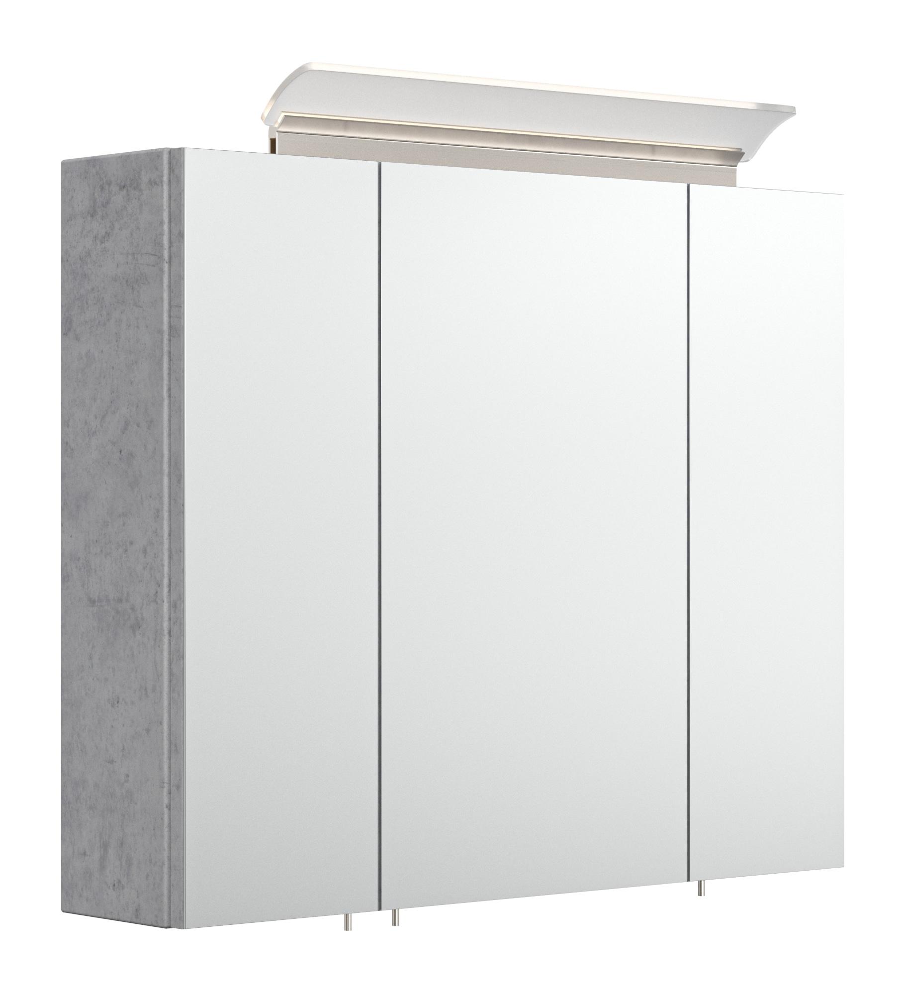 Saniclear Rocky 75cm spiegelkast met design LED verlichting beton grijs