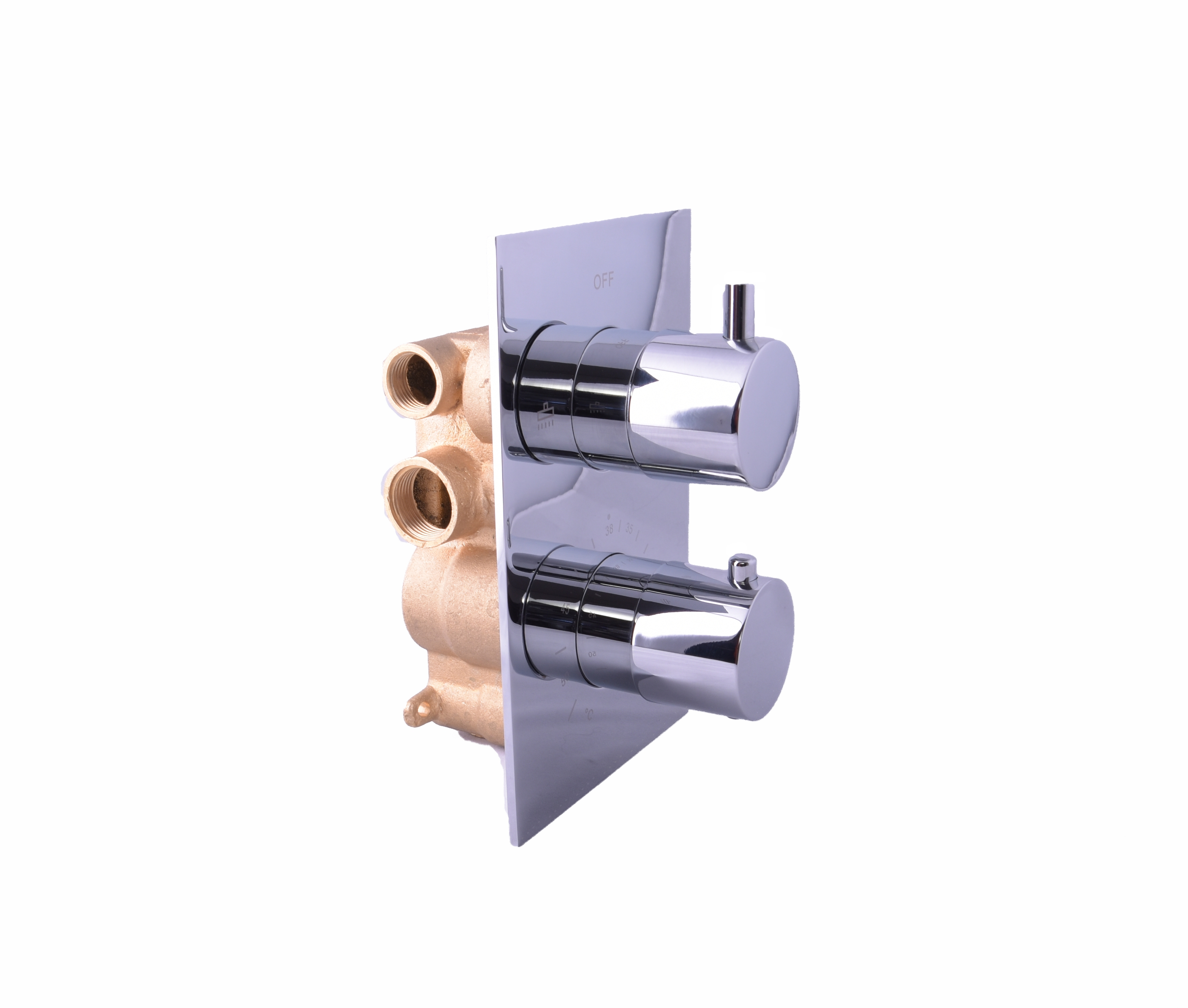 Saniclear Round inbouw thermostaat met inbouwdeel chroom