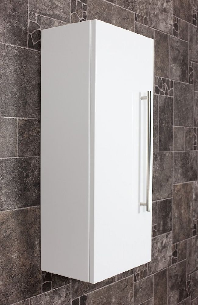 Saniclear Small Kolomkast hoogglans wit 30x70