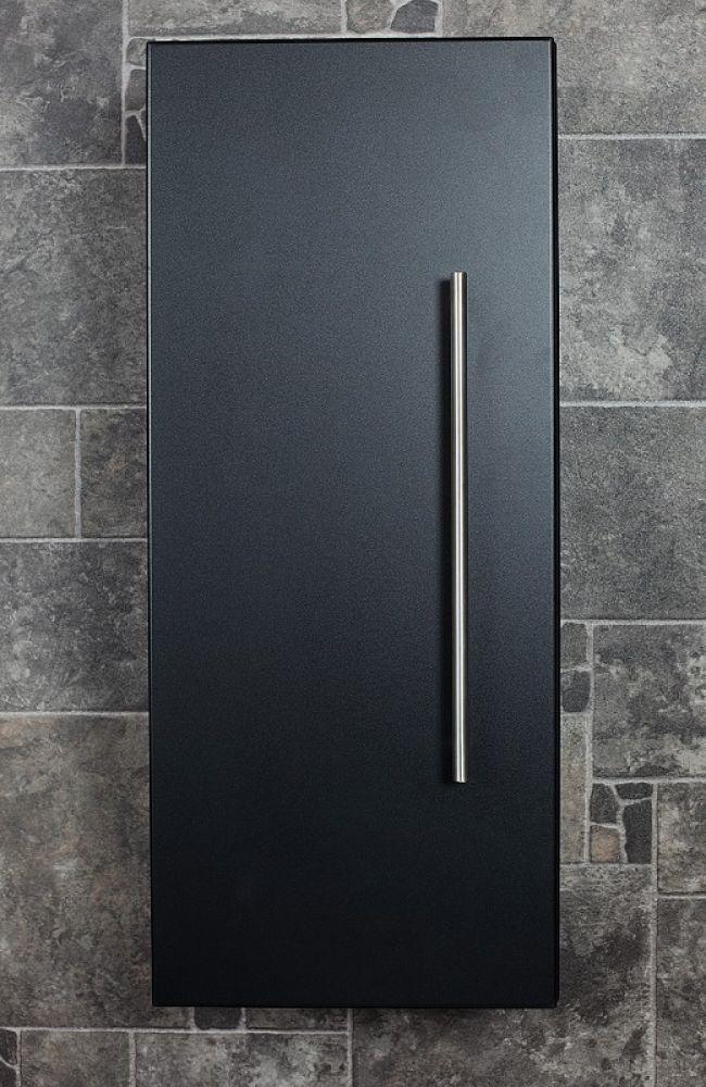 Saniclear Small Kolomkast zijdeglans zwart 30x70