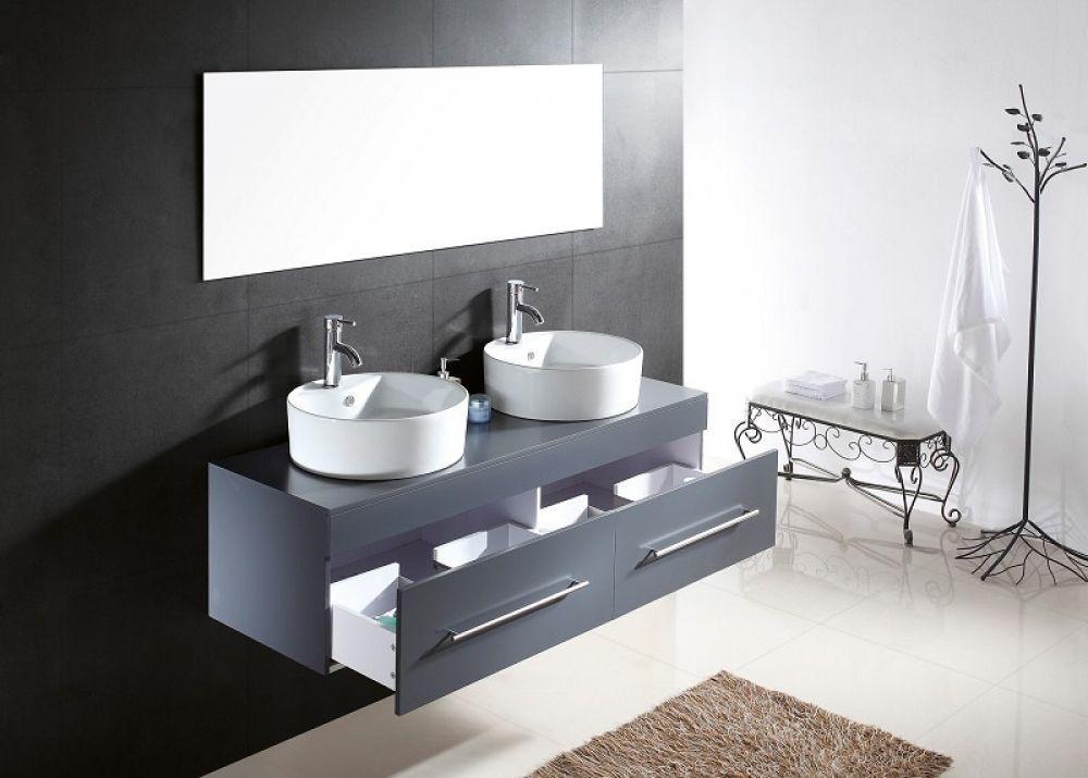 Badkamermeubel Met Kommen : Badkamermeubel met betonnen wastafel goedkope meubels